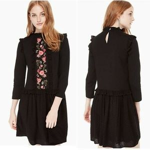 Kate Spade New York Embroidered Mixed Medi Dress